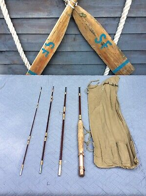 Old 4 Piece  Fly Fishing Rod And Cover Bag • 35£