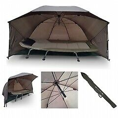 Ngt Fishing Umbrella Carp Shelter Brolly With Sides And Storm Poles 60  • 44.99£