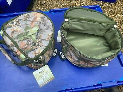 2 X Camo Reel Cases Carp Coarse Fishing Reels Padded Ngt Brand New With Handles • 9.99£