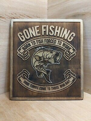 Gone Fishing Sign Plaque • 29.99£